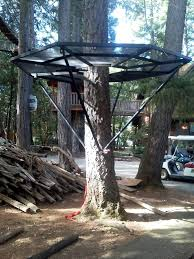 Backyard Zip Line Without Trees by Zip Platforms