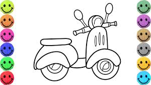 how to draw motorcycle coloring pages for kids art colors for