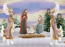 lighted christmas yard angels nativity scene yard stakes christmas wikii