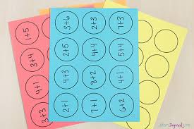 math facts math facts activity with paper cups