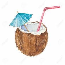 watercolor cocktail tropics clipart coconut cocktail pencil and in color tropics