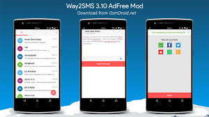 apk only way2sms 3 10 apk modded adfree send free sms texts india