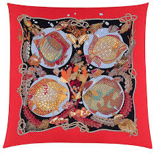 home design by annie a rare hermes pleated silk scarf u0027grand fond u0027 by annie faivre at