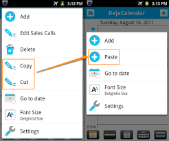 copy and paste android copy and paste events with dejaoffice 1 12 for android