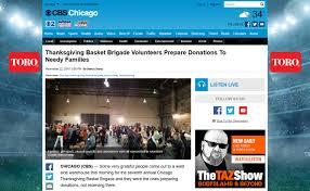 press chicago thanksgiving basket brigade