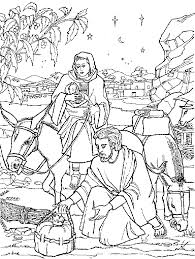 coloring page angel visits joseph escape to egypt coloring page