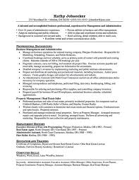 Business Management Resume Sample by Property Manager Resume Example Monster Resume Samples Help