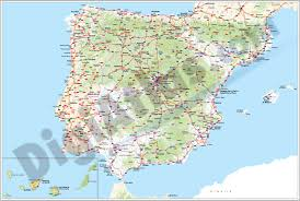 Espana Map Vectorized Maps Digital Maps Increase Search Engine Traffic