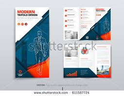 Tri Fold Program Tri Fold Brochure Design Dl Corporate Stock Vector 611587724