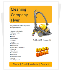 cleaning company flyers template cleaning service flyer template