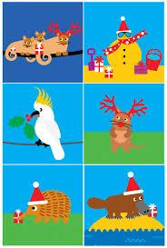 new australian themed christmas cards