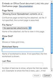 exle biography wikipedia showing excel spreadsheet contents on a wiki page confluence