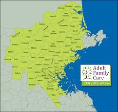 Map Boston Area by Family Care Afc Family Care