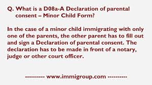 Authorization Letter Sample For License Renewal what is a d08a a declaration of parental consent minor child