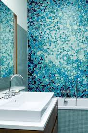 blue tile bathroom ideas blue mosaic tiles bathroom design ideas pictures