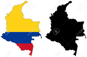 colombia map vector vector map and flag of colombia royalty free cliparts vectors