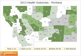 Montana County Map by Montana Rankings Data County Health Rankings U0026 Roadmaps