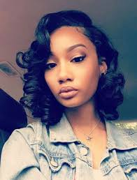 hair does for middle aged black women swept side bangs wavy bob wigs for black women wavy bob hairstyles