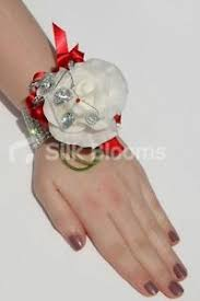 wedding wrist corsage white real touch wedding wrist corsage w ribbons ebay
