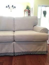 linen slipcovered sofa pam morris sews chunky linen slipcover on a traditional sofa