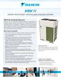 Total Comfort Control Vrv Iv Heat Recovery Daikin Ac Americas Inc Pdf Catalogues