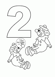 free coloring pages number 2 number 2 coloring pages for kids counting sheets printables free