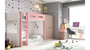 lit superposé chambre lit superposé avec bureau chambre personnalisable glicerio so nuit