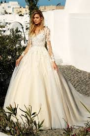 wedding dress a line a line scoop sleeves tulle with applique court wedding