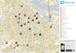 Holland Map Map Of Amsterdam Attractions Tripomatic Com Places Of Interest