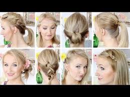 Hochsteckfrisurenen Selber Machen Glatte Haare by 10 Frisuren In 8 Minuten Schnell Einfach Mittellanges Haar