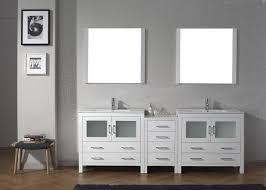 virtu usa dior 90 double bathroom vanity set in white bathtubs plus