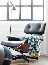 Plaid Chair And Ottoman by Via Huset Shop Eames Lounge Chair Arne Jacobsen Floor Lamp