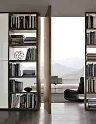 Open Shelving Room Divider Entryway Ideas Pivot Doors Modern Design Bookcase Wall