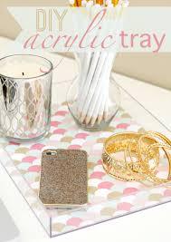 diy tray acrylic tray