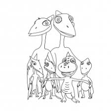 10 free printable dinosaur train coloring pages