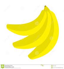 banana icon branch set healthy food lifestyle fresh fruit