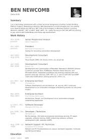 On Campus Job Resume Sample by Senior Programmer Analyst Resume Samples Visualcv Resume Samples