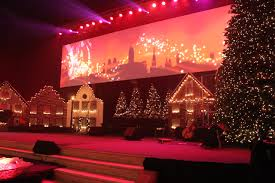 a dutch christmas church stage design ideas