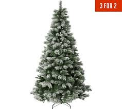 buy collection 7ft snow covered tree green at argos co