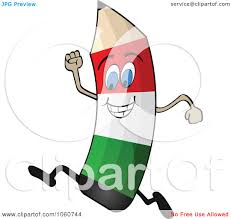 royalty free vector clip art illustration of a running italian