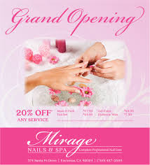 grand opening mirage nails and spa