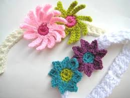 how to make baby flower headbands crochet dreamz baby headband with flowers free crochet pattern