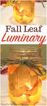 Fall Homemade Decorations - mason jar luminary simple u0026 cheap fall decorating idea