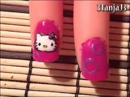 sanrio 1 hello kitty nail art design short nails youtube