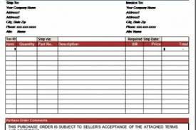 purchase order forms templates free download templatezet