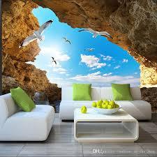 beach tropical wall mural custom 3d wallpaper for walls seagull