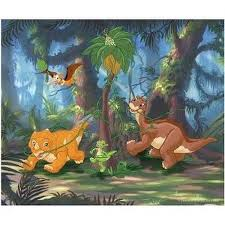 land lenticular piece puzzle dinosaurs tree