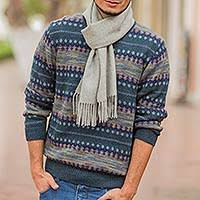 sweater in s patterned andean 100 alpaca sweater in shades of blue