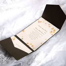 wedding pocket envelopes autumn maple leaves brown pocket wedding invitations iwps077
