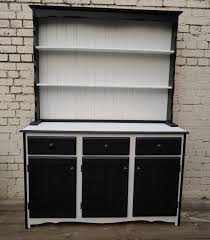 farmhouse welsh dresser black and white kitchen storage